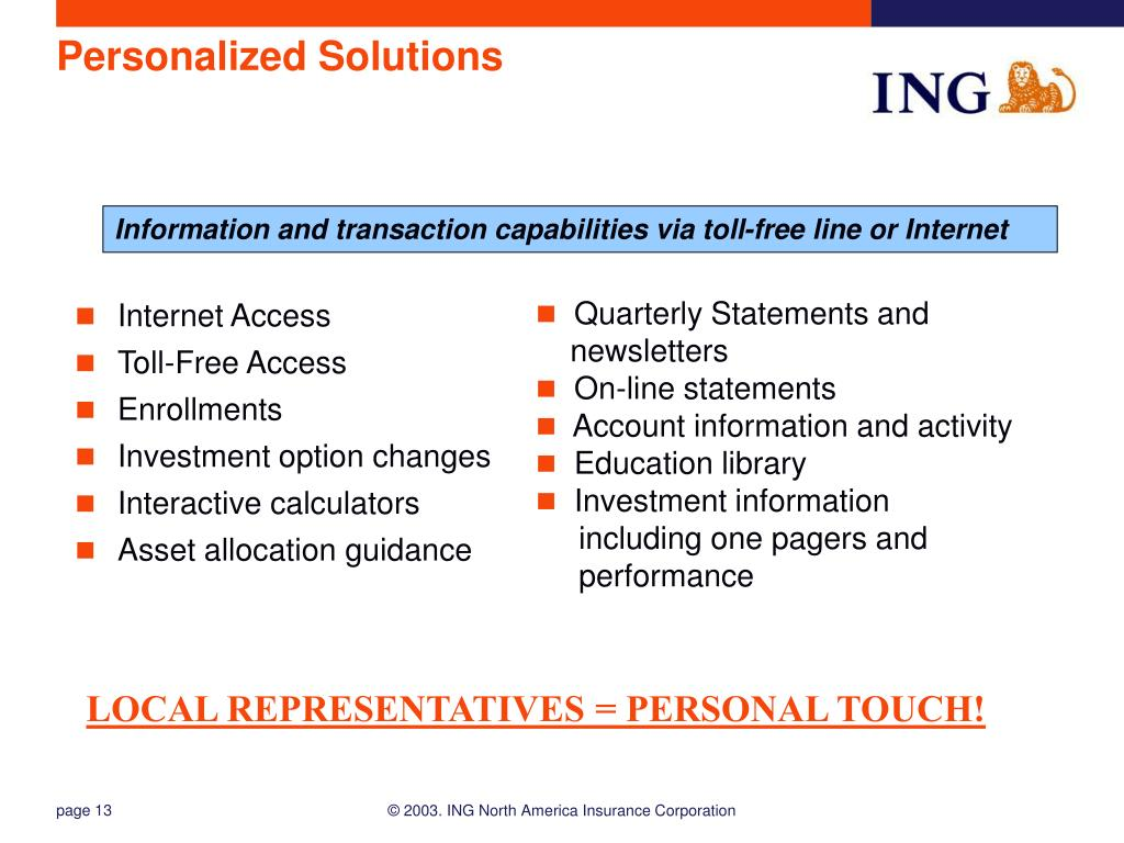 Personalized Solutions