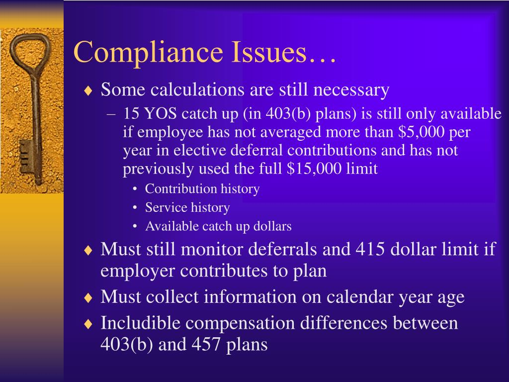 Compliance Issues…