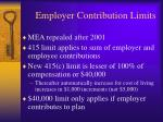 employer contribution limits