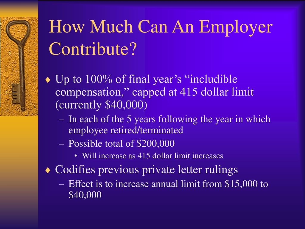 How Much Can An Employer Contribute?