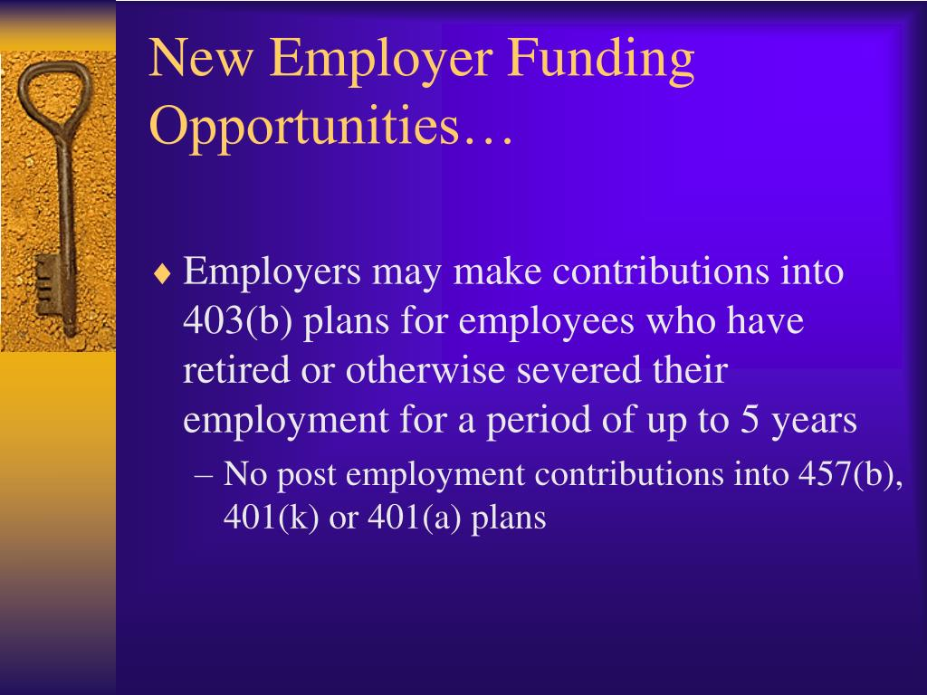 New Employer Funding Opportunities…