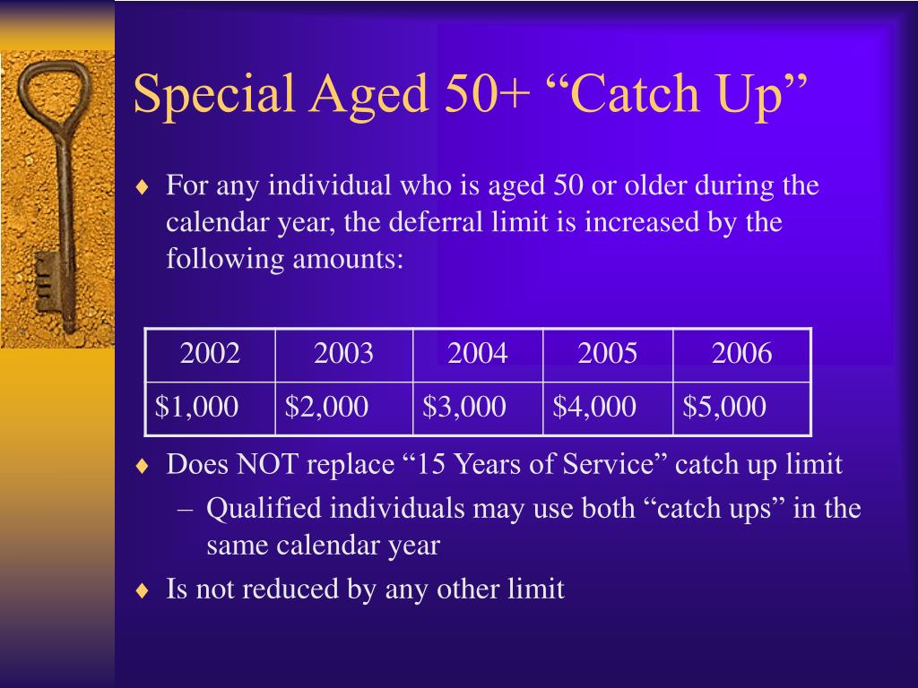 "Special Aged 50+ ""Catch Up"""