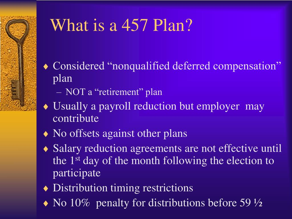 What is a 457 Plan?