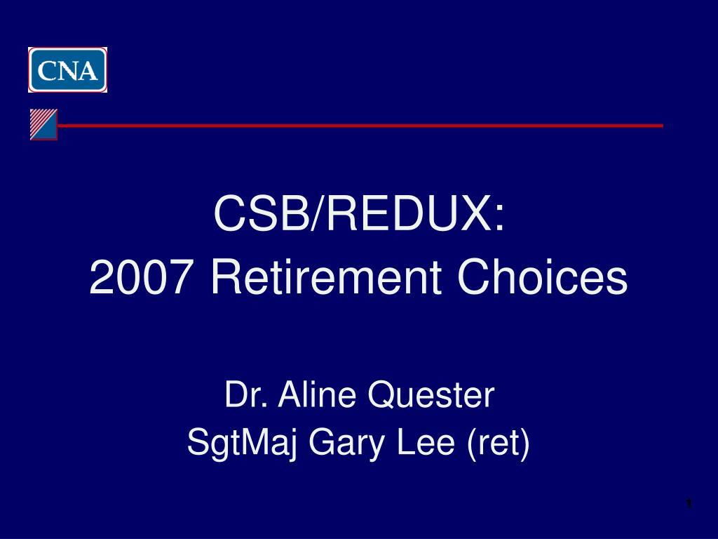 CSB/REDUX: