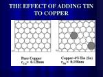 the effect of adding tin to copper