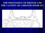 the processing of bronze and the casting of a bronze door iv