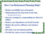 how can retirement planning help