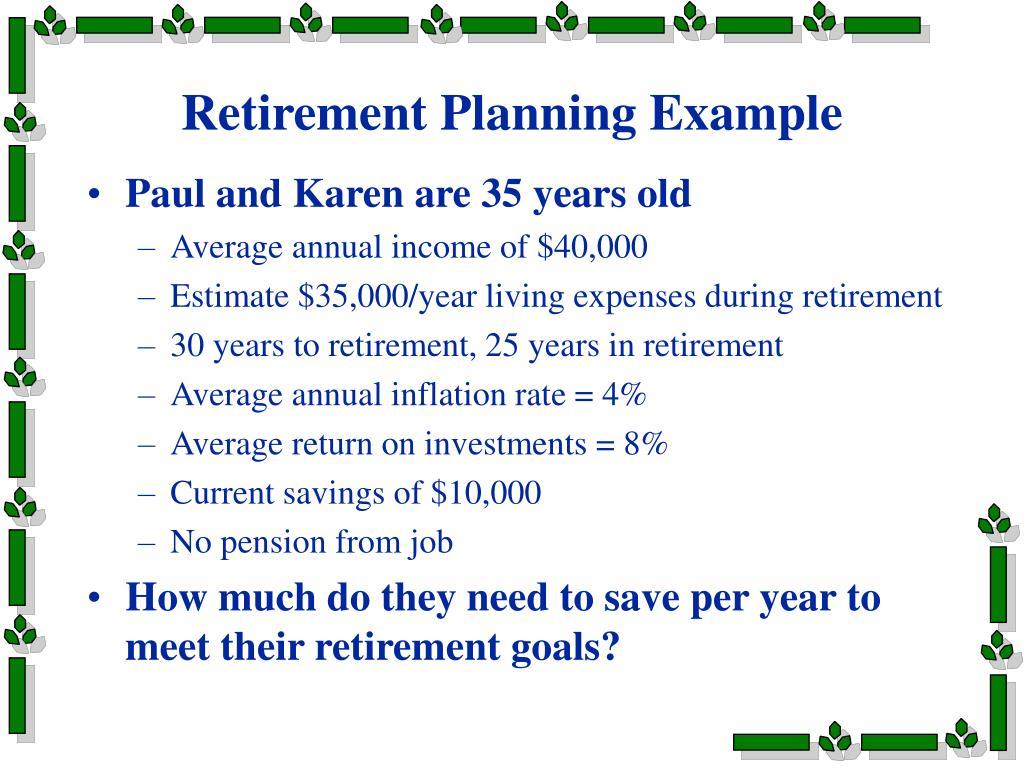 Retirement Planning Example