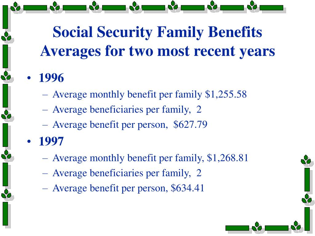 Social Security Family Benefits