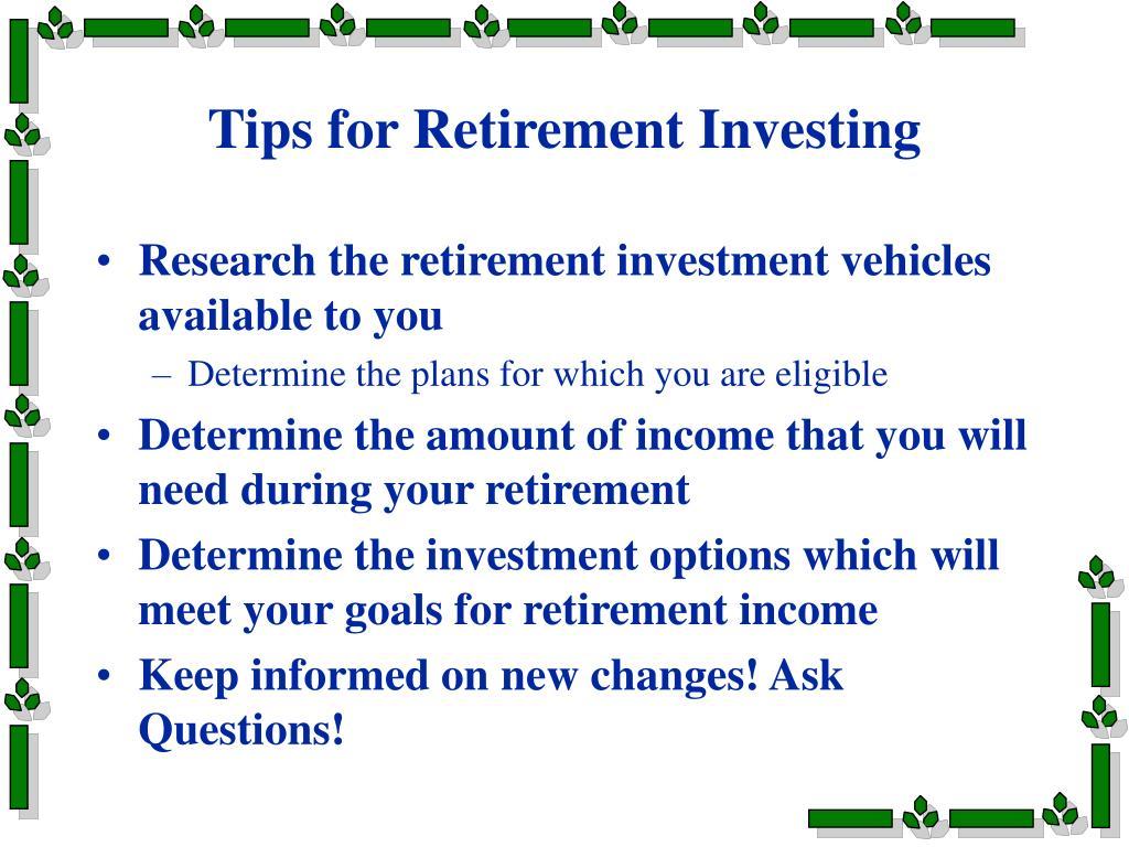 Tips for Retirement Investing