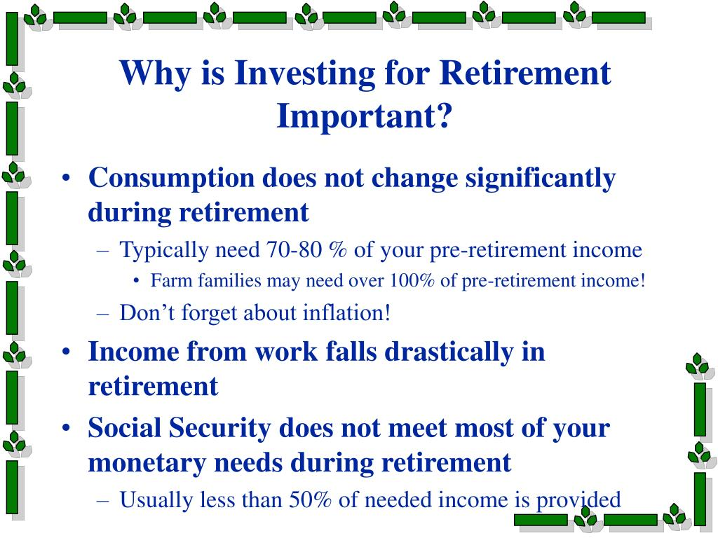 Why is Investing for Retirement Important?