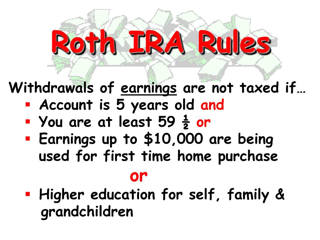 Roth IRA Rules