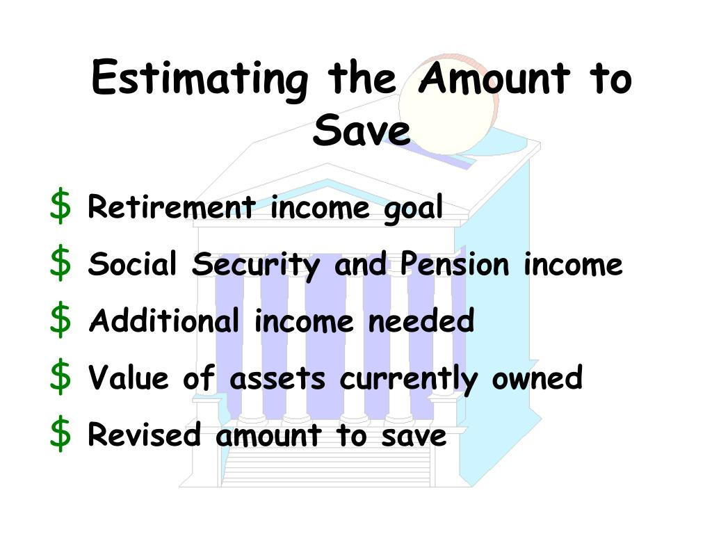 Estimating the Amount to Save