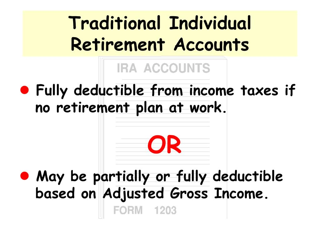 Traditional Individual Retirement Accounts
