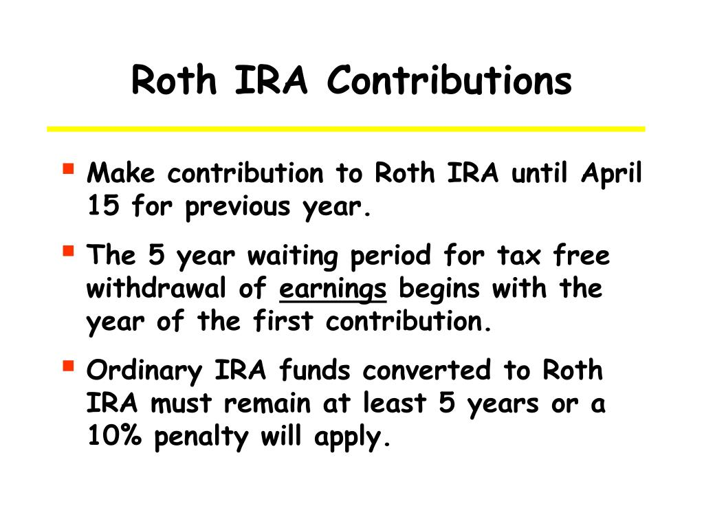 Roth IRA Contributions