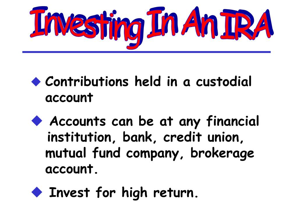 Investing In An IRA