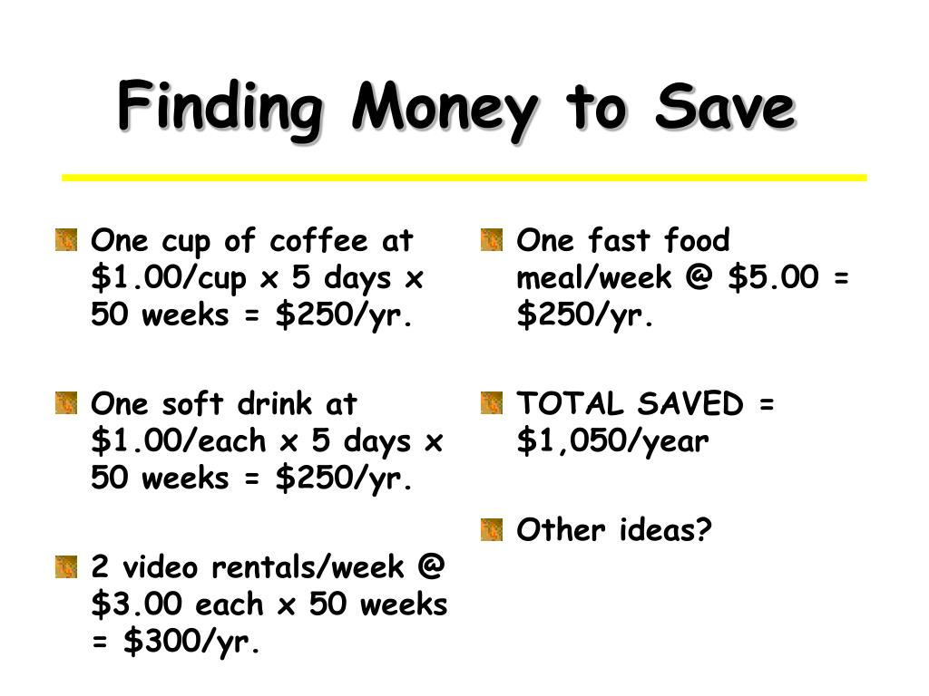 Finding Money to Save