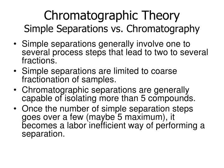 Chromatographic Theory