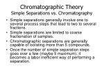 chromatographic theory simple separations vs chromatography