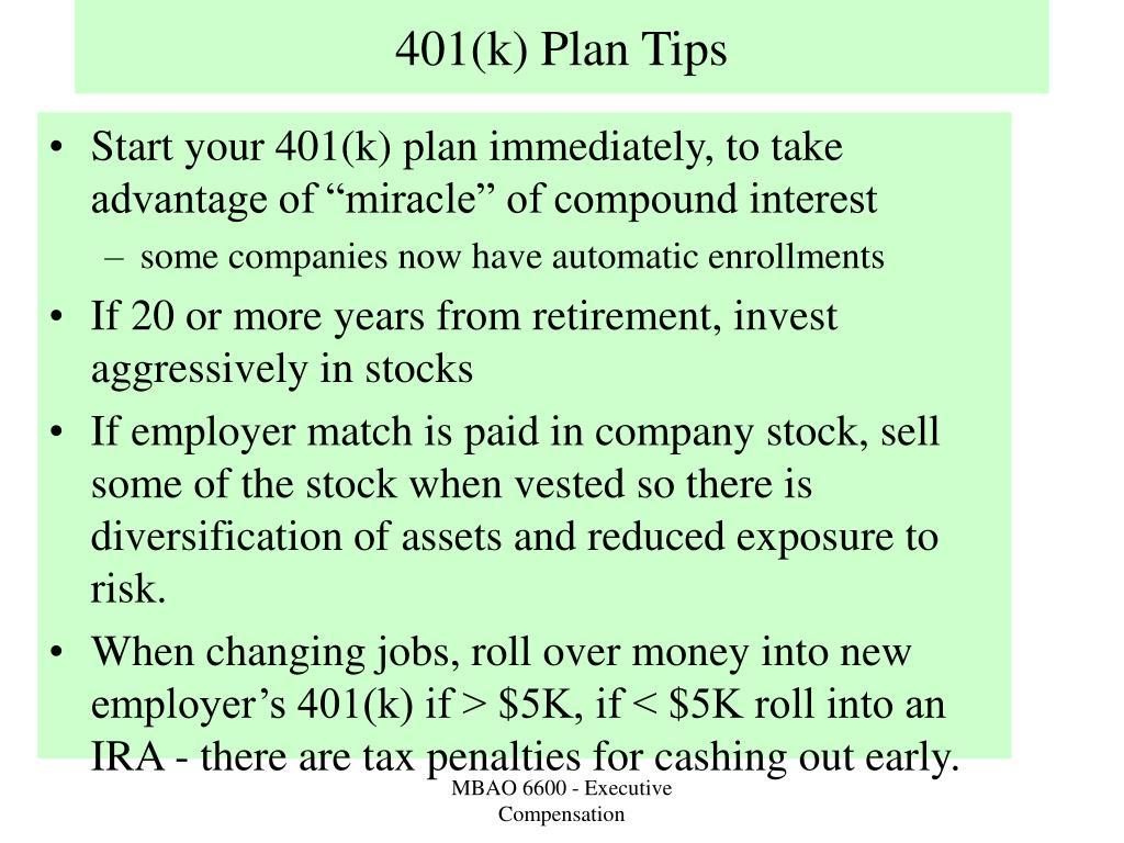 401(k) Plan Tips