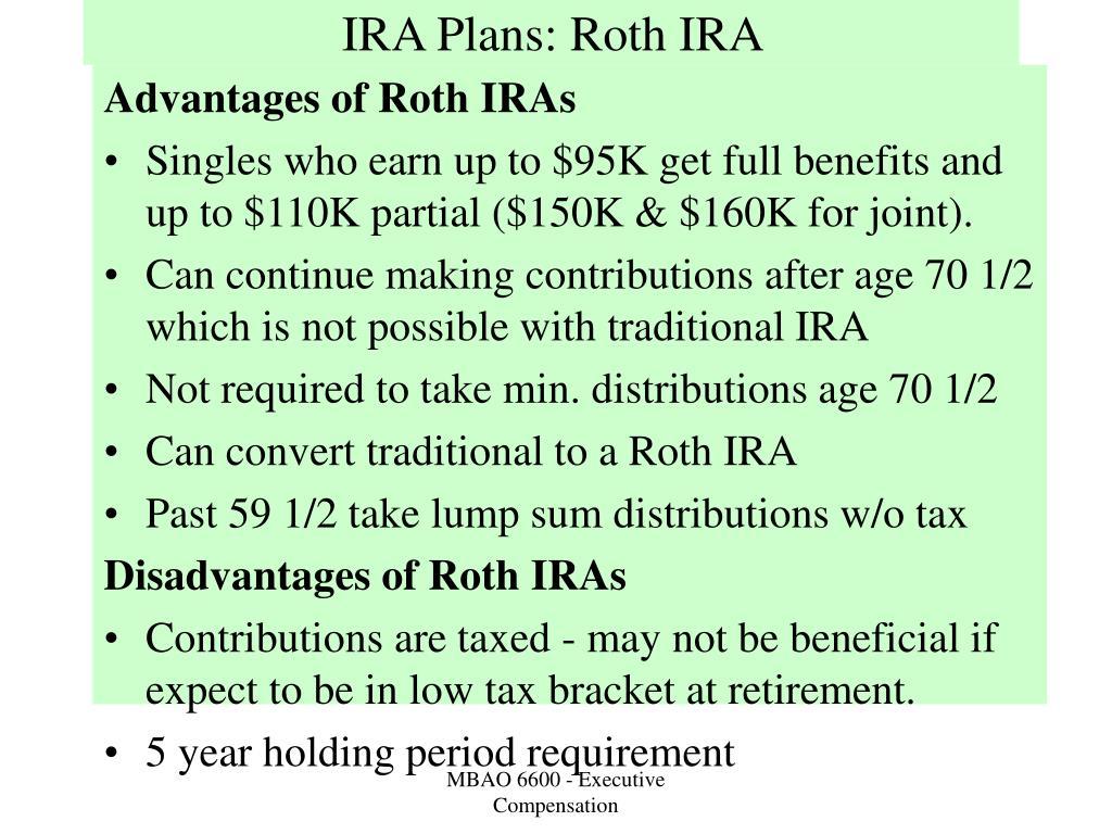 IRA Plans: Roth IRA