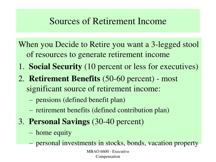 Sources of retirement income l.jpg