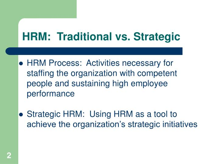 Hrm traditional vs strategic