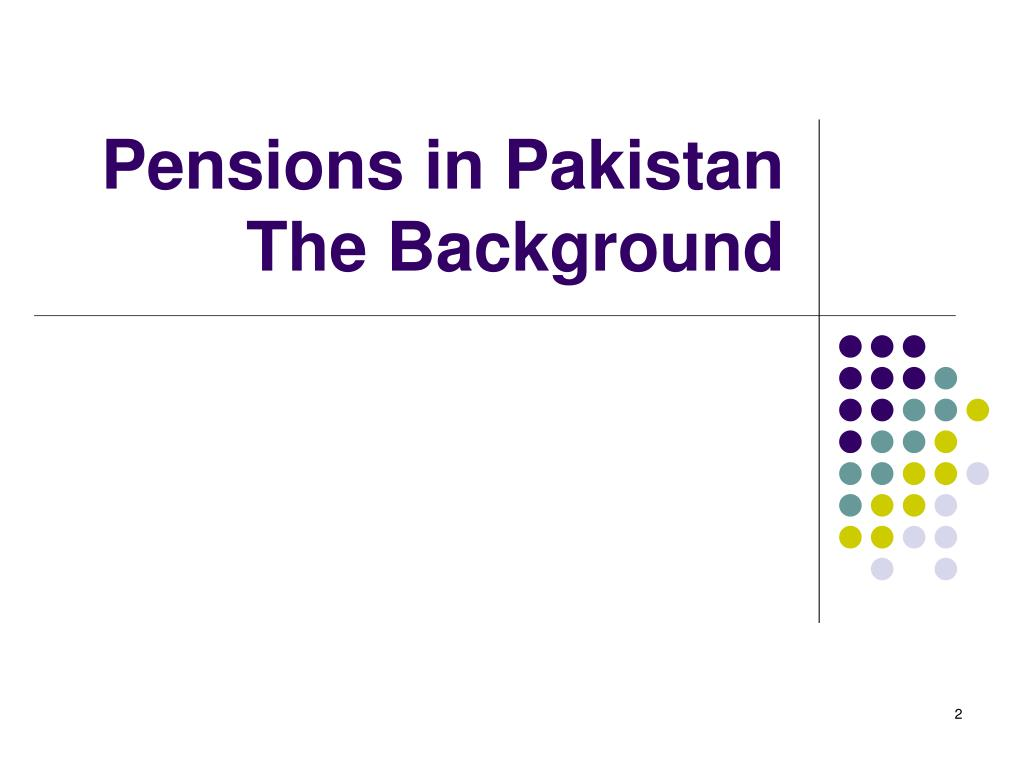 Pensions in Pakistan