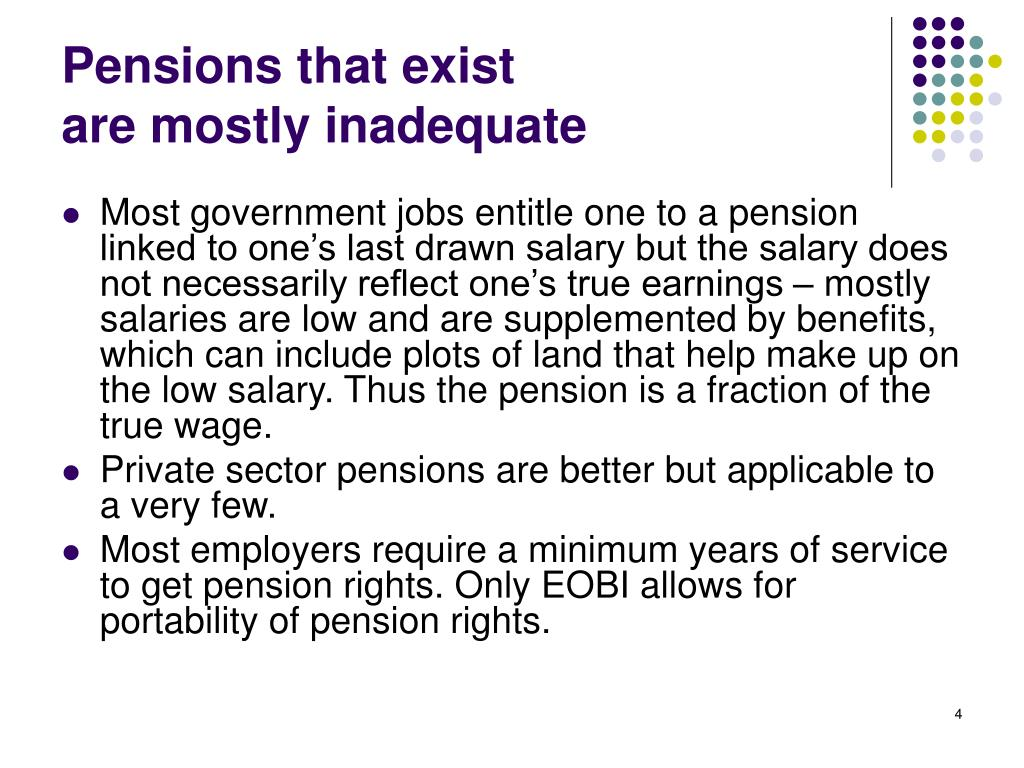 Pensions that exist