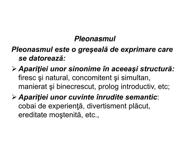 Pleonasmul