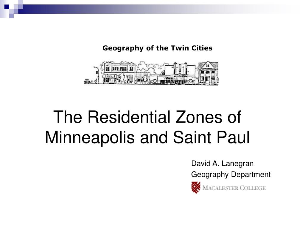 the residential zones of minneapolis and saint paul