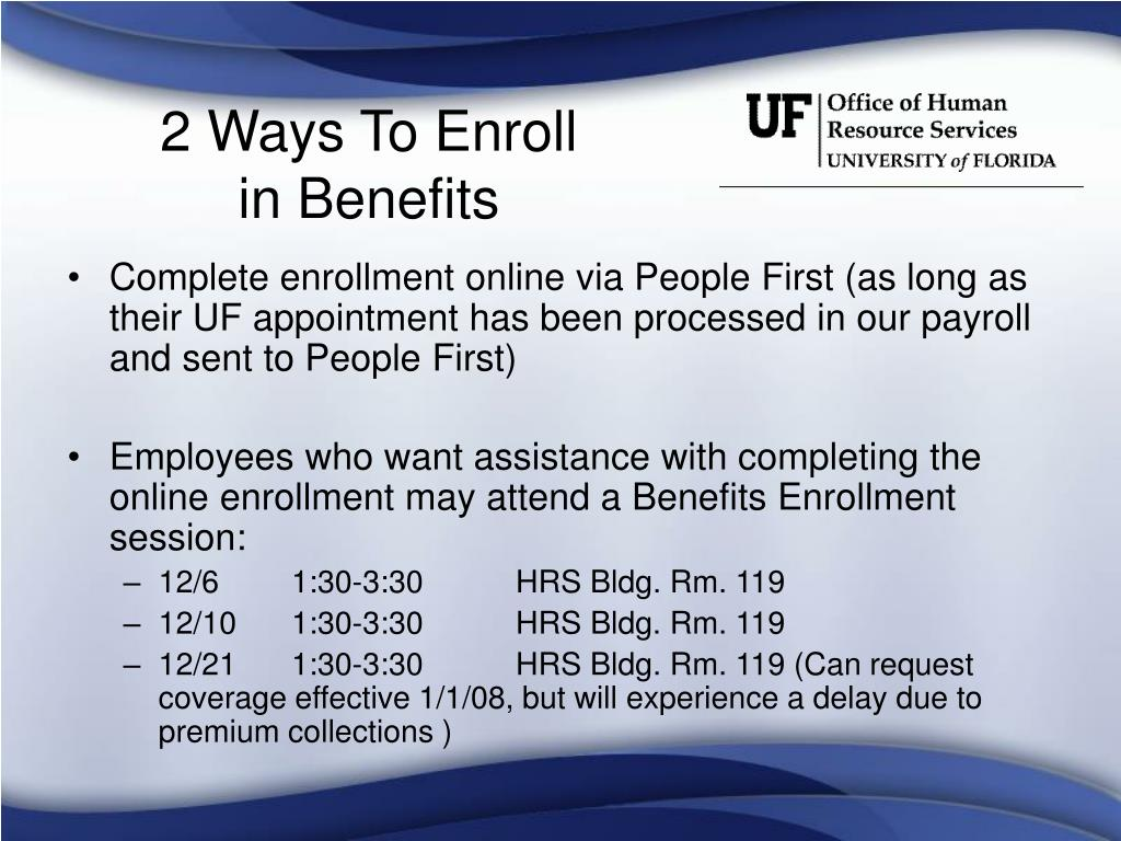 2 Ways To Enroll