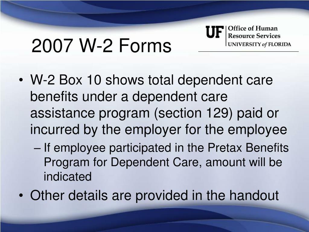 2007 W-2 Forms