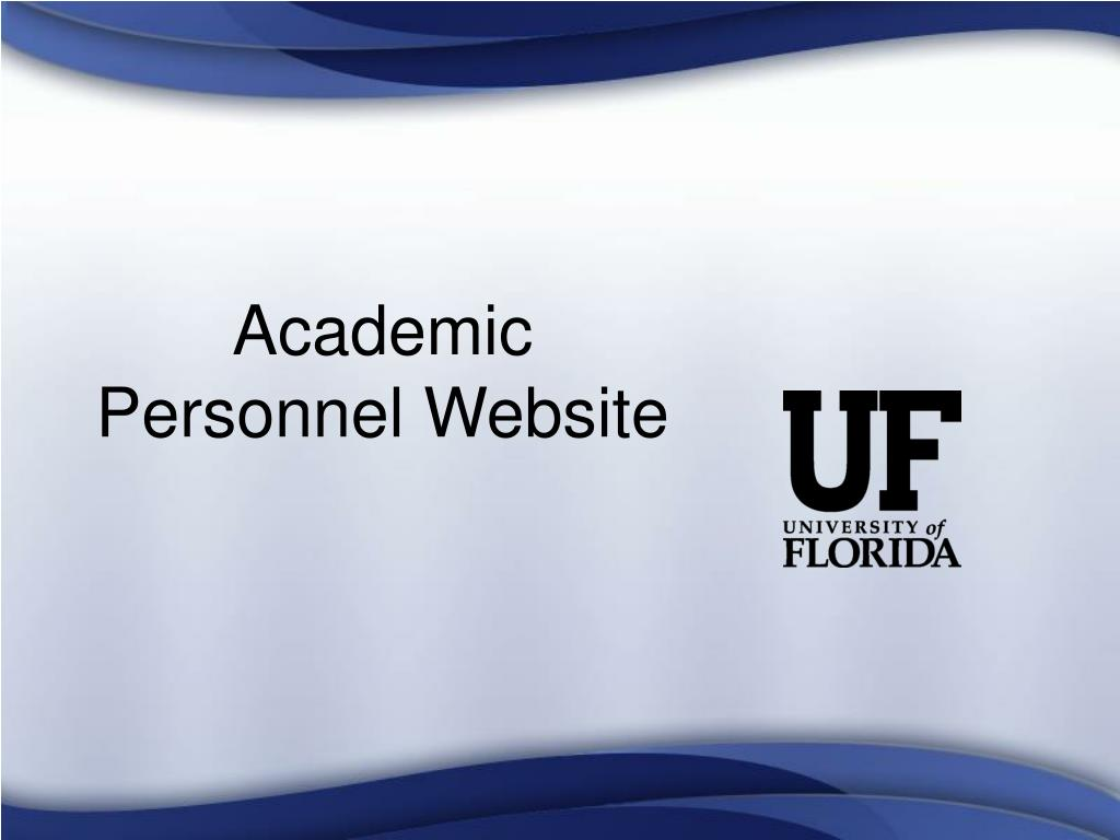 Academic Personnel Website