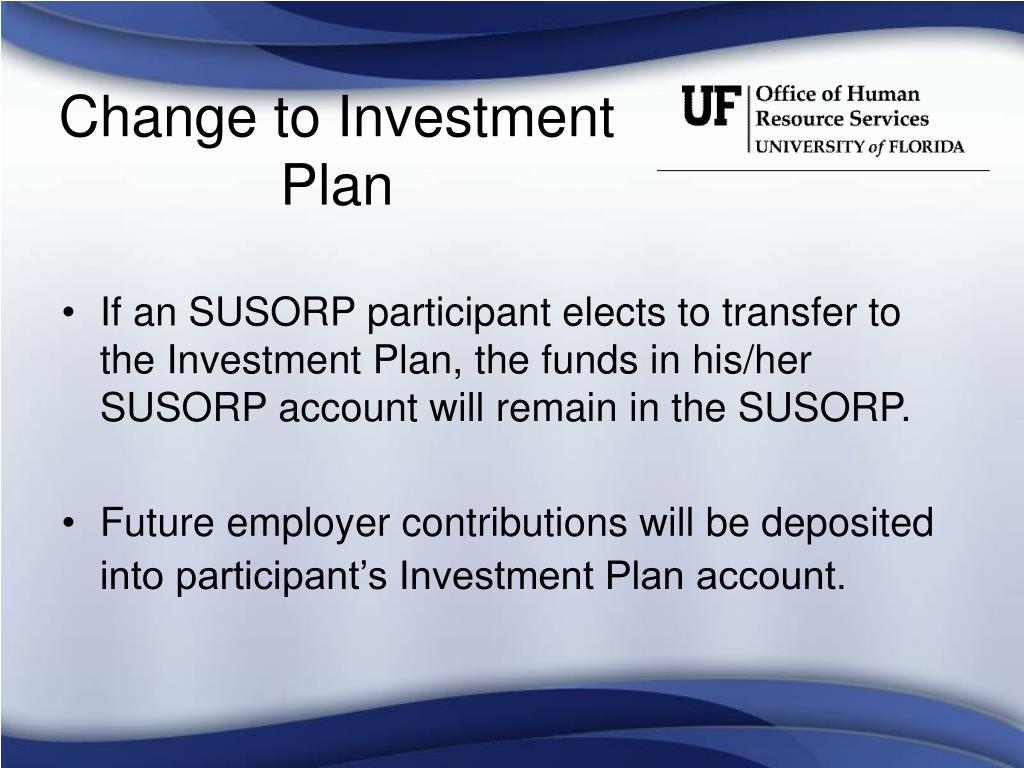 Change to Investment Plan