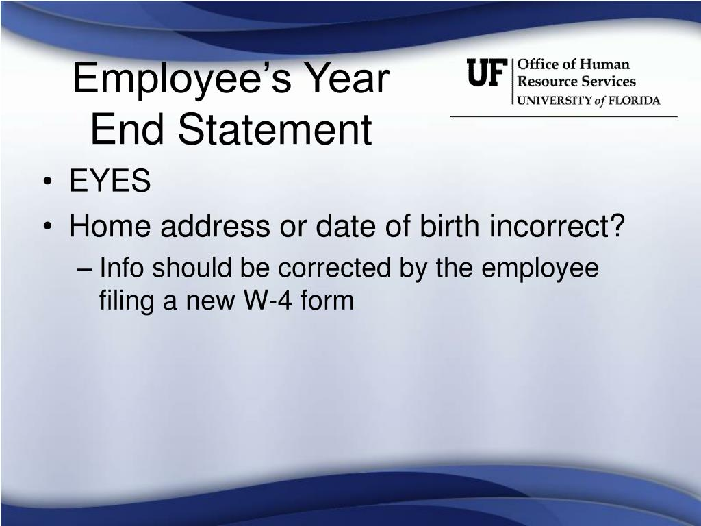 Employee's Year End Statement