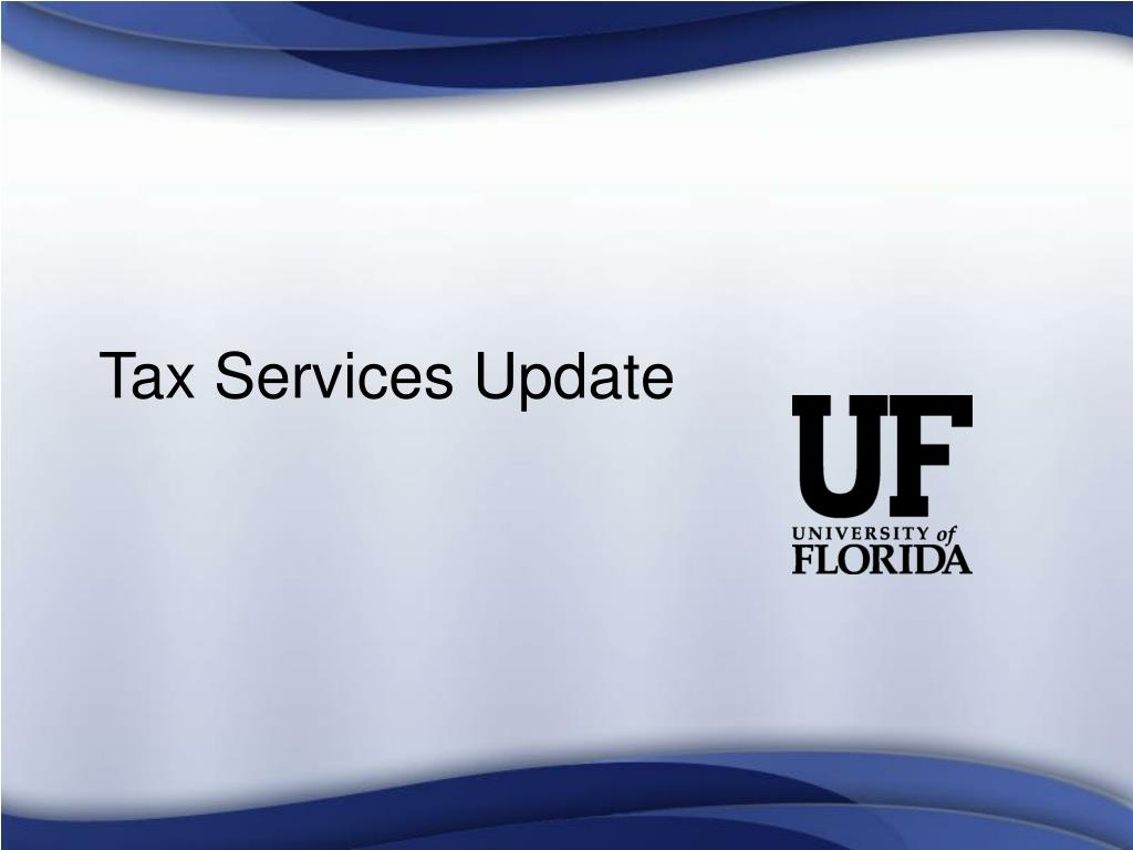 Tax Services Update