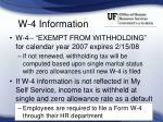 w 4 information