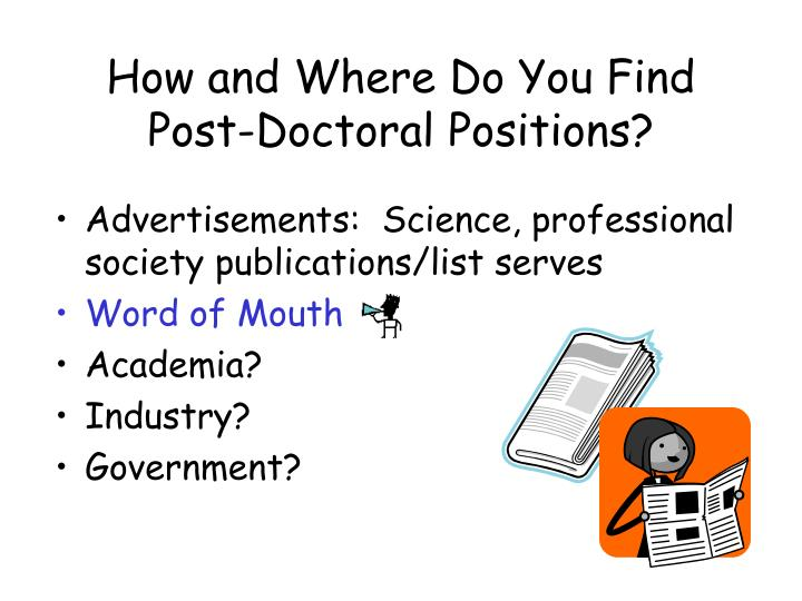 How and Where Do You Find Post-Doctoral Positions?