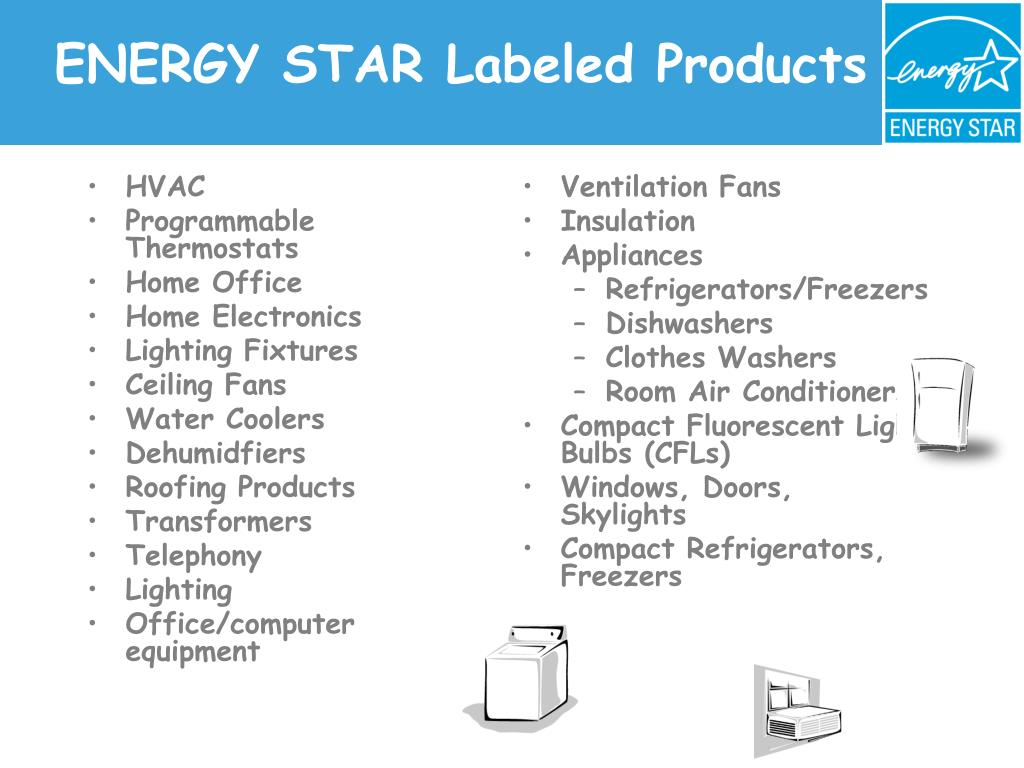 ENERGY STAR Labeled Products