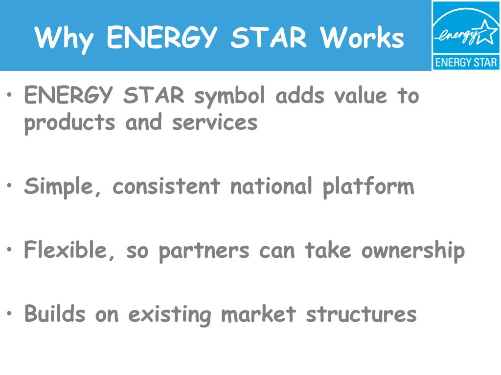 Why ENERGY STAR Works