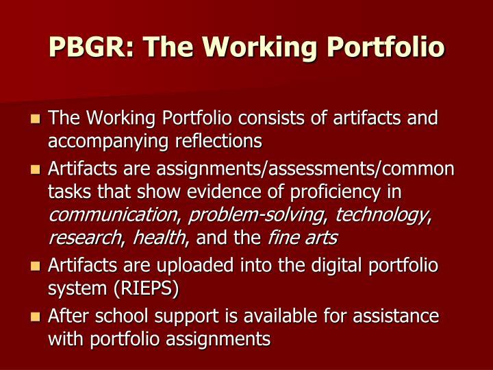 PBGR: The Working Portfolio