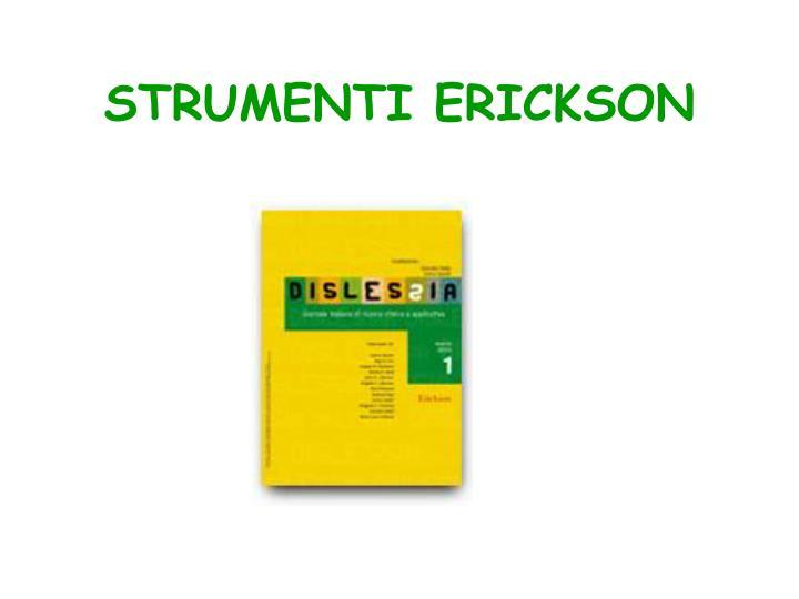 STRUMENTI ERICKSON