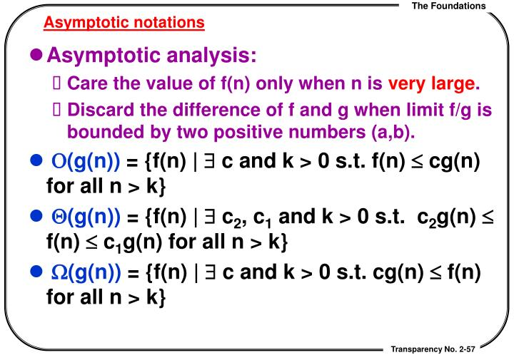 Asymptotic notations