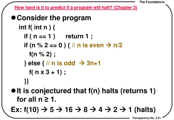 How hard is it to predict if a program will halt? (Chapter 3)