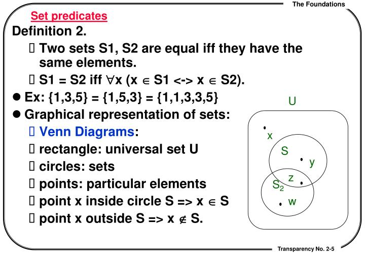 Set predicates