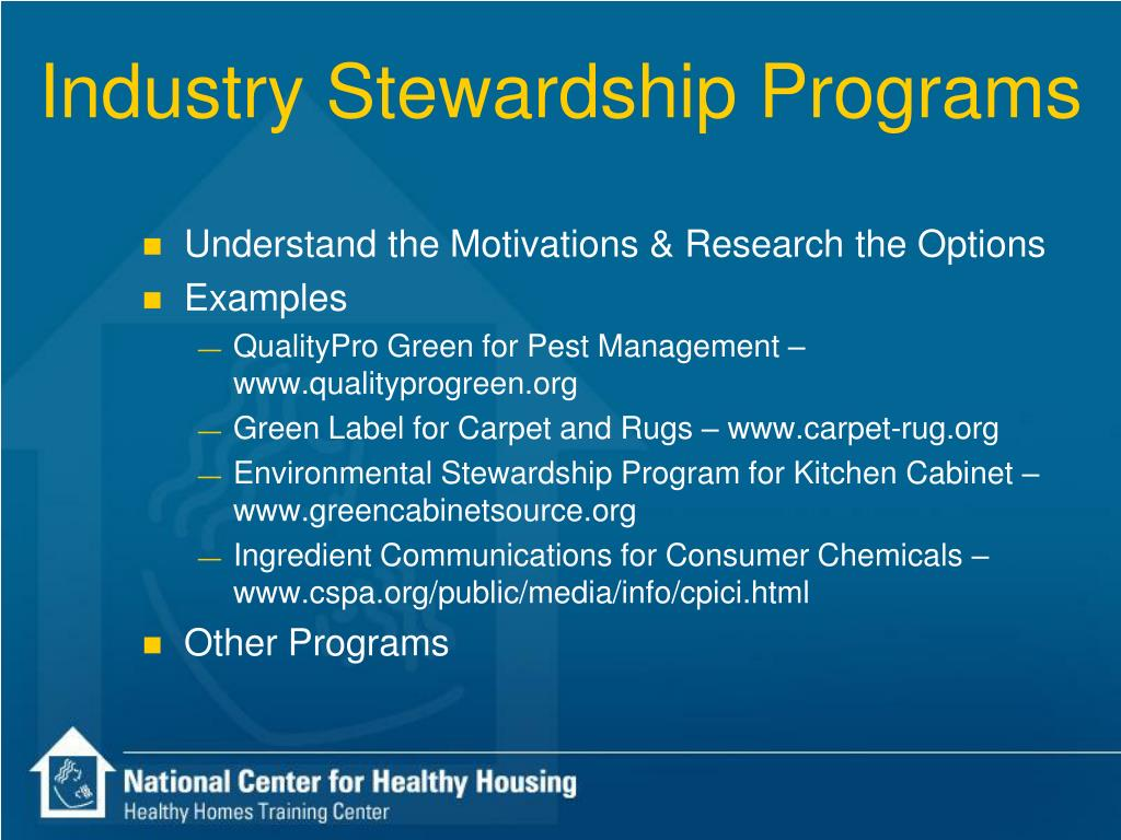 Industry Stewardship Programs