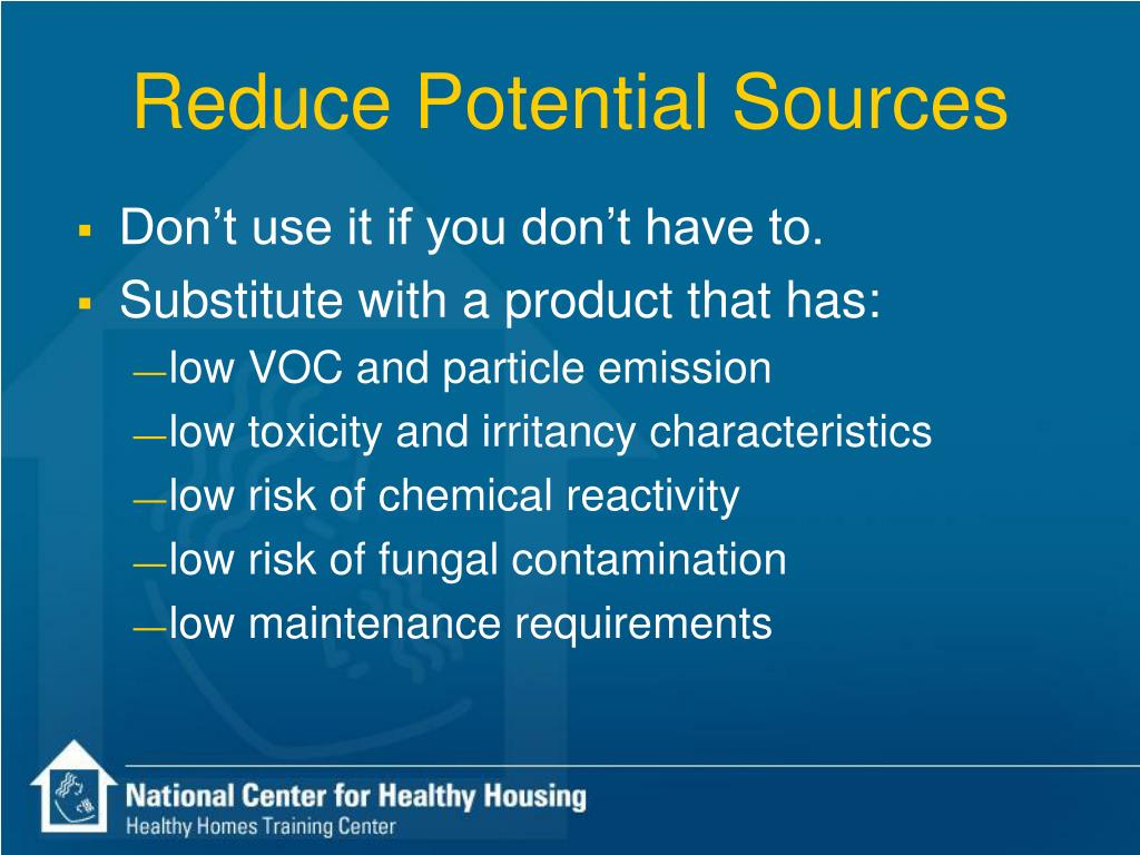 Reduce Potential Sources