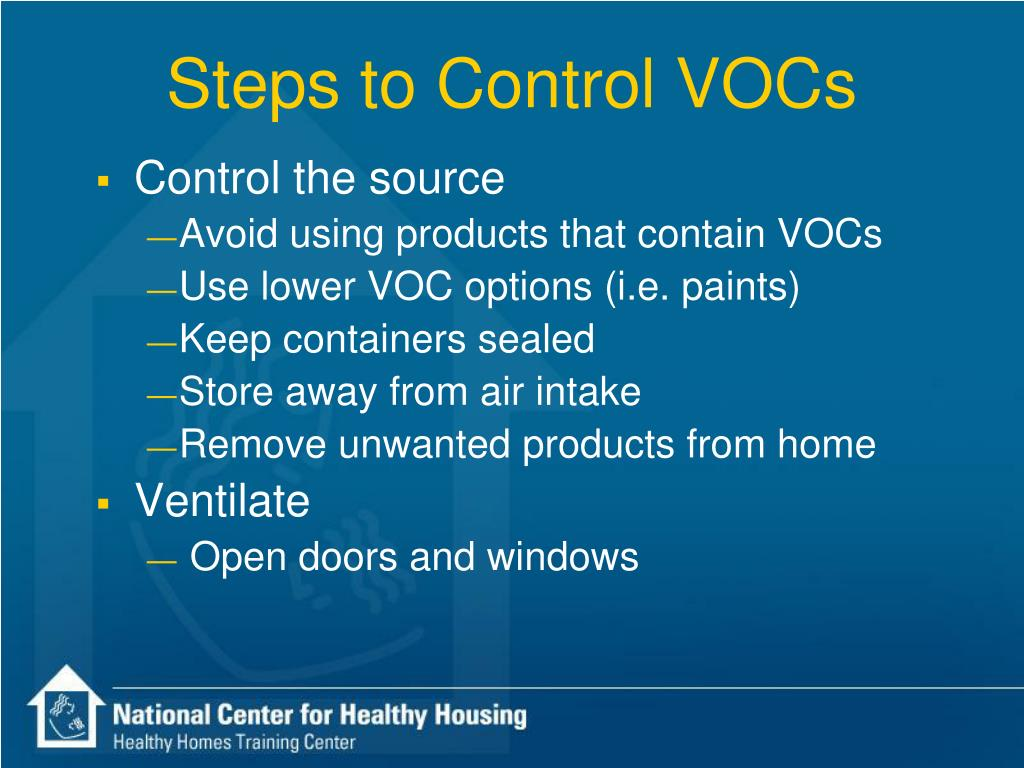 Steps to Control VOCs