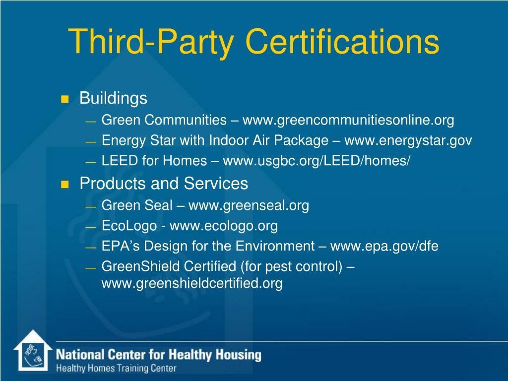 Third-Party Certifications